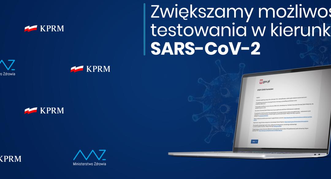 Zwiększona możliwość testowania w kierunku SARS-CoV-2